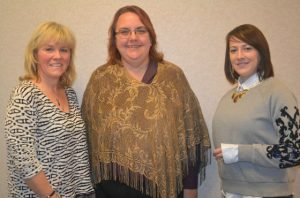 Outgoing Unionville Community Fair President Danielle Chamberlain (from left) poses with Pam Eppinger, the new fair manager, and Deb
