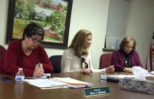Pocopson Township Supervisors Alice Balsama (from left), Elaine DiMonte, and Ricki Stumpo agree to revisit the daycare proposal after the planning commission reviews materials from those opposing it.