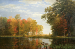 Albert Bierstadt (1830-1902). Autumn Woods, 1886. Oil on linen, 54 x 84 in. Collection of the New-York Historical Society, Gift of Mrs. Albert Bierstadt.