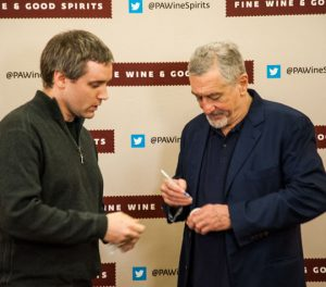 Robert De Niro autographs a baseball for Matt Whitehead of Garnet Valley