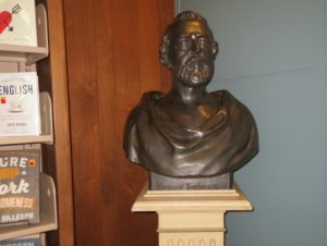 A bust of Bayard Taylor is one of the few reminders of the Kennett Public Library's previous namesake.