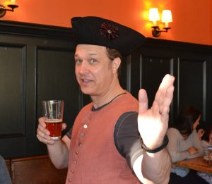 CFHS board member Steve Liberace awaits his turn behind the bar.
