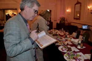 Judge Daniel Love of Catering By Design evaluates the finished entries.