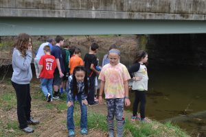 After releasing their fingerlings into the Pocopson Creek, students have no trouble finding other areas of interest along the water.