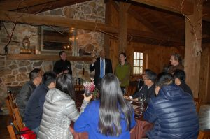 A group from China, gets a tour of Galer