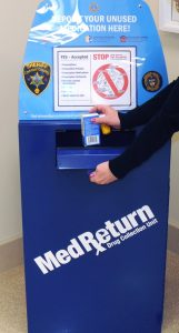 This permanent collection box sits outside the Chester County Sheriff's Office in the Justice Center in West Chester.