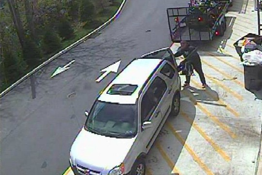 West Goshen Township Police say they are trying to identify the man who helped himself to a landscaping blower on Friday, April 8.