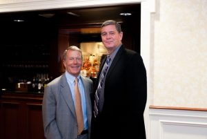 Robert McNeil (left) is shown with Larry Welsch, whom McNeil has described as the perfect executive director for the Chester County Food Bank.