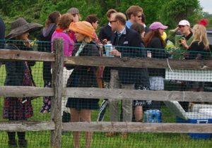 Despite some rain, elegant hats dominate the Radnor Hunt Races.