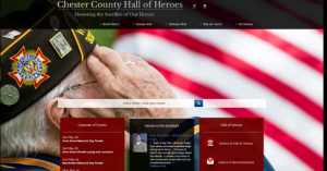 Chester County has updated its Hall of Heroes website.