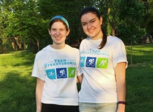 Taylor Kulp (left) and Erin Harten are organizing