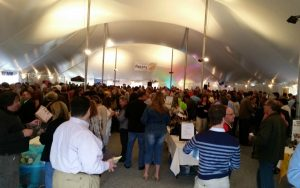 About 500 attendees enjoy the ambience of the 2015 Twisted Vintner.
