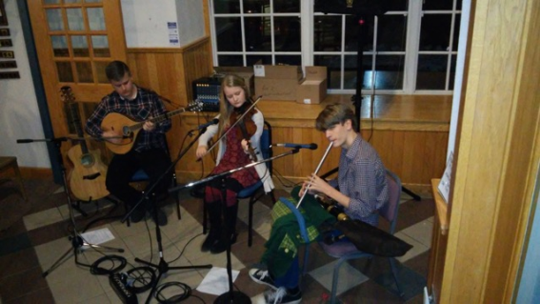 Dylan Richardson (from left), Haley Richardson and Keegan Loesel will demonstrate their award-winning talent for Irish music on Monday, June 27, in Wilmington.