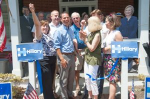 Kennett Area Democrats celebrate the opening of their new headquarters at 119 East Linden Street during a pre Democratic Party Convention in Philadelphia.