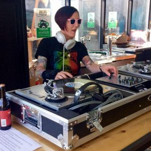 Deejay Shadylady will provide sounds for a fundraiser for The Kennett Flash featuring food and beer from Victory Brewing Company.