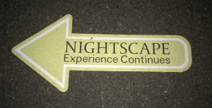 Signage has been updated to help guide visitors through Nightscape.