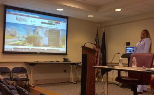 Kennett Township Manager Lisa M. Moore displays the township's new website.