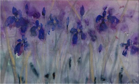 Irises by Sally Wilson