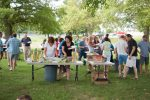 Teachers, administrators and staff from Unionville High and Patton Middle School have a picnic on the grounds between the two schools four days before the start of the new school year.