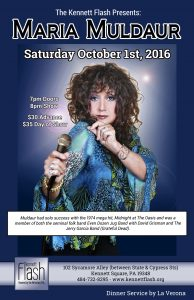 Maria Muldaur will perform at The Kennett Flash on Sunday, Oct. 1.