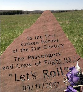 A tribute to the passengers of Flight 93.