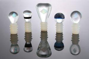 Hand blown glass by Justin Smith. Photo courtesy of Ivystone Studio