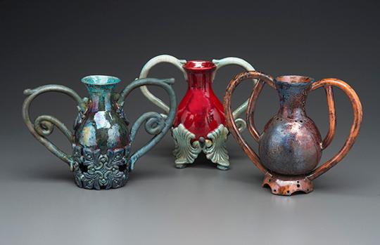 Ceramic work by Marcia Reiver