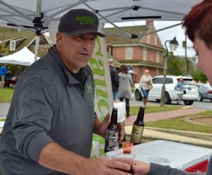 Jeff Fulmer of Saucony Creek Craft Brewery in Kutztown enjoys sharing samples.