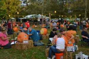 Competitors at the Chadds Ford Historical Society's Great Pumpkin Carve begin to work their magic.