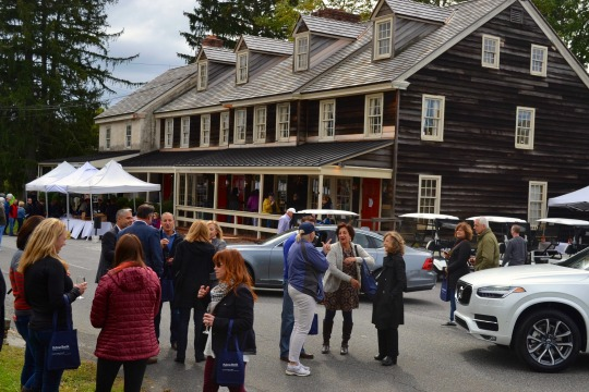 A crowd gathers at the Wine Festival at Dilworthtown Inn on Sunday, Oct. 9.