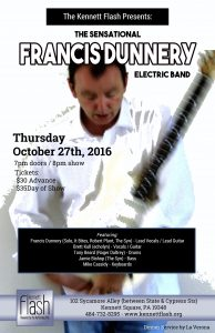 The Sensational Francis Dunnery Electric Band will play The Kennett Flash on Oct. 27.