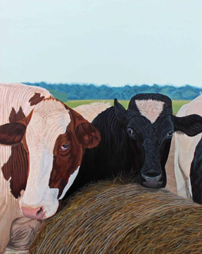 Two Cows by Kimberly English, Mala Galleria