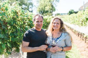 Lele and Brad Galer in the vienyard