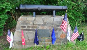 The Chadds Ford Vietnam monument after veterans cleaned up the area and before it was stolen.