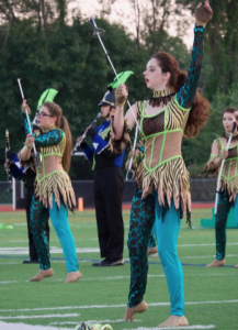 Unionville High's color guard will also perform the 'Tribal Nation' show.