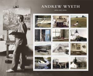 The U.S. Postal Service will make the centennial of Andrew Wyeth's birth with a stamp sheet.