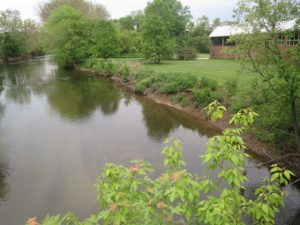 The Brandywine Creek is shown from the Lenape Bridge in Pocopson Township.