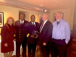 Concordville Chadds Ford Rotary recognizes Deputy Chief Eugene C. Smith Jr., of Riddle Hospital, as EMS Provider of the Year. From left are Deborah F. Love, Chief Keith Laws, award winner Smith, Bill Gross and Mike Rice.
