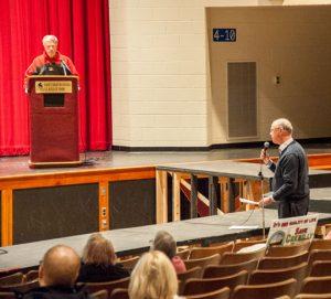 Brandywine Conservancy Senior Land Planner John Snook, far right, addresses the Westtown Planning Commission.