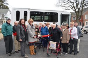 The Friends Home in Kennett Square, a supportive senior living community, now has its own new bus that can seat 14 people and accommodate walkers and wheelchairs when needed. Transportation used to be provided by Chester County Rover, which only operated during certain hours. Now the home can transport residents when needed and wherever they want to go.