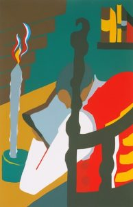 """""""Contemplation,"""" by Jacob Lawrence.."""