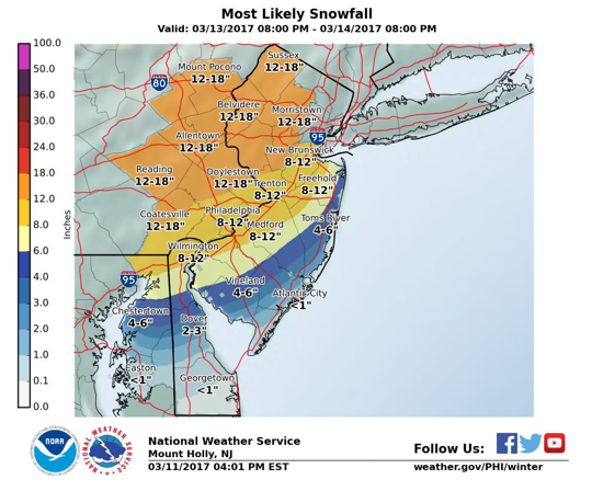 12-18 inches of snow predicted for Chesco - Chadds Ford Live