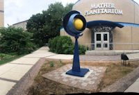 Panorama of West Chester University Planetarium installation