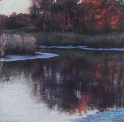 """Orange Reflection"" by Mary Pritchard at Station Gallery"