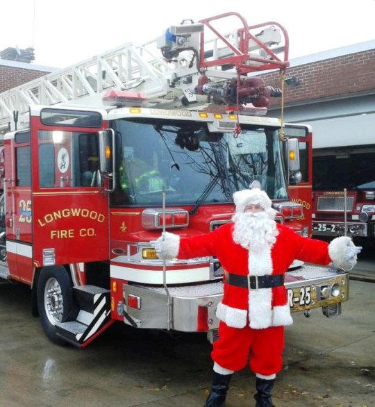 Longwood Fire Company schedules Santa visits - Sat. Sun.