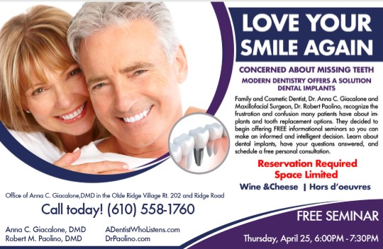 Love Your Smile Again - Free Seminar