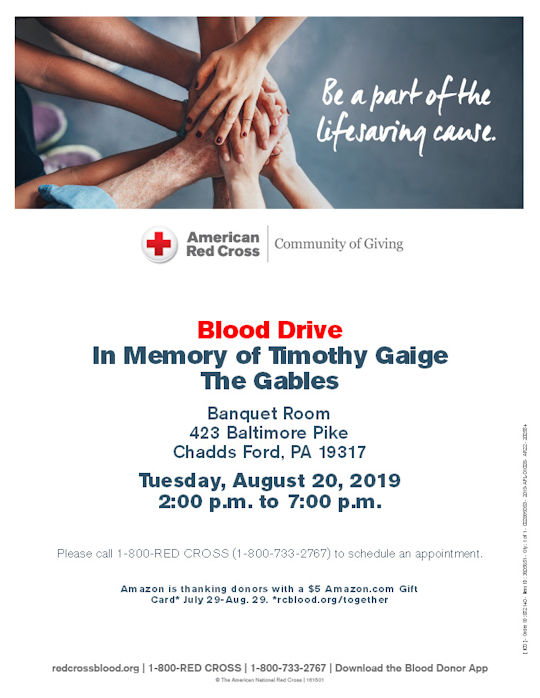 Blood Drive at the Gables