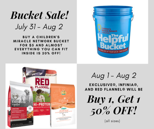 Brandywine Ace, Pet & Farm Bucket Sale @ Brandywine Ace, Pet & Farm